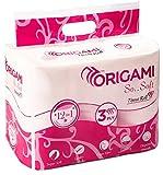 #1: Origami So Soft 3 Ply Toilet Tissue 12 Rolls - 160 Pulls Per Roll - Total 1920 Pulls