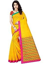 Shree Ram Krishna Women's Bhagalpuri Silk Printed Saree With Blouse Piece (SRK-S104, Multicolour, Free Size)