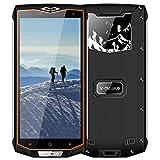 Telephone Portable Incassable Smartphone Étanche Antichoc Résistant V66 v mobile Smartphone 3G+ Android 7 Écran 5.5 3Go+32Go 6500mAh Batterie Téléphone Débloqué Double SIM Caméras 8MP GPS (Nior)