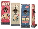 Bada Bing Flaschenöffner für die Wand Retro Vintage Bier Motiv Geschenk Holz 4988