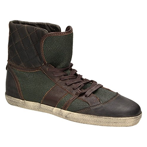 Liebeskind BerlinLK2027 - Pantofole a Stivaletto Donna Verde (Brown/Green/Snake)