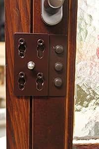 einbruchschutz f r doppelfl gel fenster und t ren esp 30 braun zum nachr sten nach din 18104 1. Black Bedroom Furniture Sets. Home Design Ideas