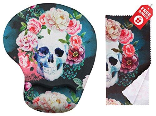 Cojín ratón ergonómico diseño vintage Sugar Skull