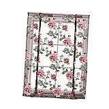 Unbekannt Landhausstil Blumenmuster Fenster Tüll Vorhang Gardine Panel, Haus Dekoration - Lila Pfingstrose 140x140cm