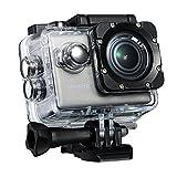 VicTsing Action Cam con Risoluzione 4K WiFi Fotocamera Macchina Impermeabile 64G TF, Sportiva Video Subacquea con Sensore Sony IMX117 Exmor-R, per Sport Esterna Bici Moto Sci, Argento