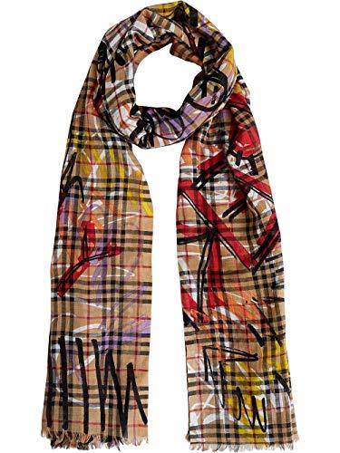 BURBERRY Luxury Fashion Damen 4075812 Gelb Schal   Jahreszeit Permanent (Damen Schals Burberry)