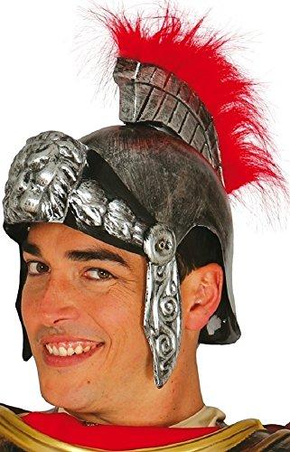 Fancy Me Erwachsene Herren Damen Gold oder Silber römische Soldat Gladiator Kostüm Kleid Outfit Helm Hut - Silbern, One Size, Einheitsgröße