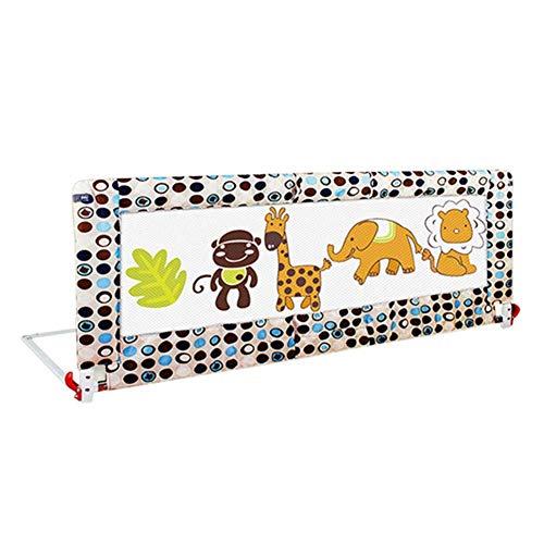 gitter Bettschutzgitter Baby-Kleinkind-Bettgitter-Sicherheits-Schutz-Schutz für Kinderkindergarten-einzelne Schiene faltbar (Size : 180cm) ()