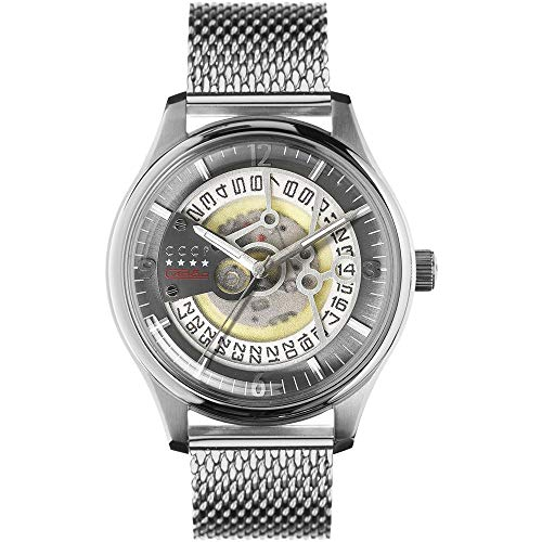 CCCP Men's Sputnik-2 43mm Steel Bracelet & Case Automatic Watch CP-7026-22