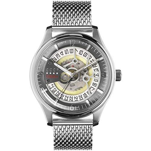 CCCP Men's Sputnik-2 43mm Steel Bracelet & Case Automatic Watch CP-7026-22