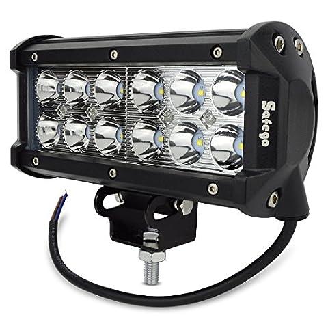 Safego 1 x 7inch 36W LED Scheinwerfer Arbeitslicht Auto Arbeitsscheinwerfer