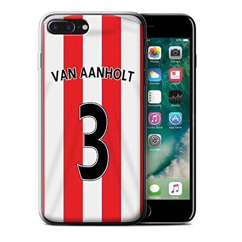 Offiziell Sunderland AFC Hülle / Gel TPU Case für Apple iPhone 7 Plus / Yedlin Muster / SAFC Trikot Home 15/16 Kollektion Van Aanholt