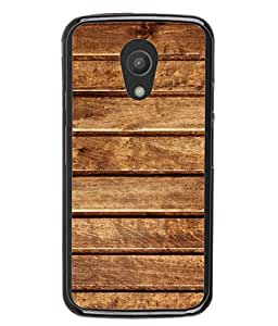 PrintVisa Designer Back Case Cover for Motorola Moto G2 :: Motorola Moto G (2nd Gen) (Solid Wood Horizontal Blocks Bars )