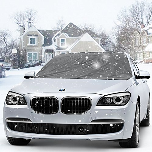 Ubegood Magnetic Snow cover, Windshield Snow Cover Frost and Ice Protector anti-frost Sun and ice in All Weather Fits for Most Vehicle (215*125cm)