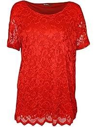 haut habill rouge femme v tements. Black Bedroom Furniture Sets. Home Design Ideas