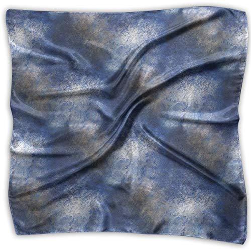 Zcfhike Blue Frame Palette Pattern Men Women Silky Scarf Neck Wraps Bandana Scarves Set - Womens Visor Knit Hat