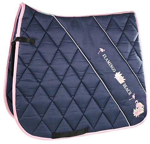 EQuest Flamingo Schabracke Cotton.Big Diamant Größe: Schabracke Dressur Farbe: Marine
