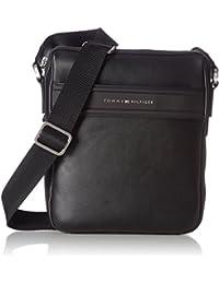 Tommy Hilfiger City Business Slim Reporter Novelty, Shopper y Bolso para Hombre, Negro (Black), 6x29x22.5 cm (W x H x L)