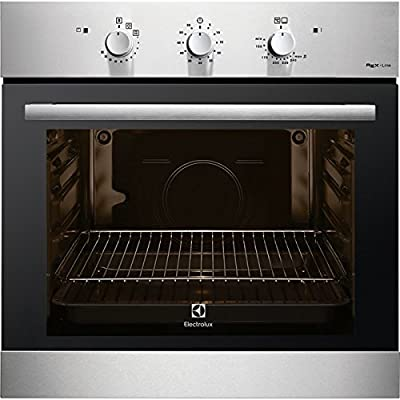 Electrolux F13GX Integrado Gas natural 69L 1760W A+ Negro, Acero inoxidable - Horno (Medio, Gas natural, Integrado, Negro, Acero inoxidable, Giratorio, Frente)