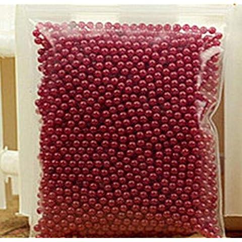 12Sacchetti Solid colore Bio Gel Sfera Sfera di cristallo mare Baby Cristallo fango suolo acqua perline per tutti gli eventi Decoration, plastica, dark red, medium - Belle Cristallo Vasi