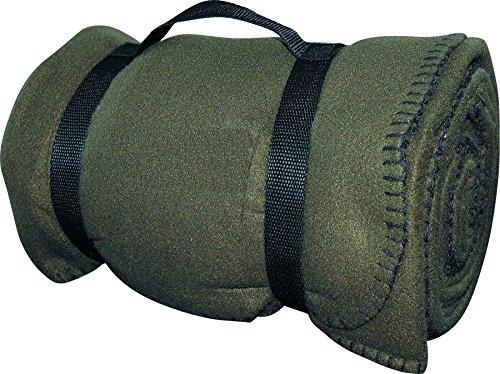 US Army Style Fleece Decke Picknickdecke Schlafdecke Unterlage in verschiedenen Farben OLIV -