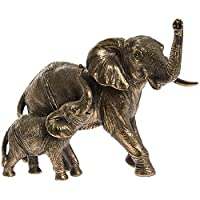 Leonardo Collection Reflections Bronze Effect Elephant and Calf Figure Ornament
