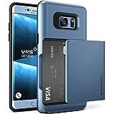 Funda Galaxy Note 7, VRS Design [Damda Glide][Coral Azul] - [Tapa con funcion deslizante semi-automatica][Wallet Card Slot Case][Heavy Duty Protección Cover][Fundas Duras] Para Samsung Note 7