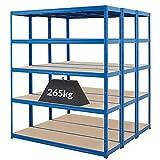 Mega Deal | Set aus 3x Schwerlastregal (Tiefe 45 cm) | Fachlast 265 kg pro Fachboden | Metallregal Kellerregal Lagerregal Werkstattregal Garagenregal |Belastbar mit 1325 kg