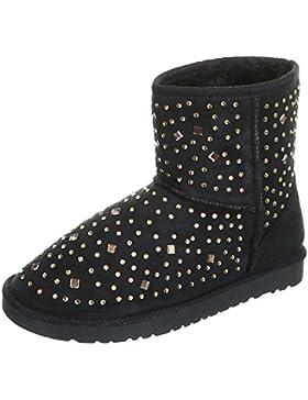 Stiefel & Boots Kinder Schuhe Mädchen Ital-Design Stiefeletten