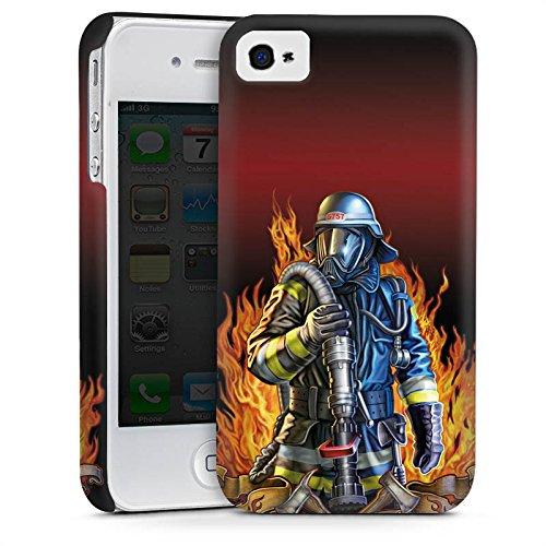 Apple iPhone 5s Housse Étui Protection Coque Pompier Pompier Pompiers Cas Premium mat
