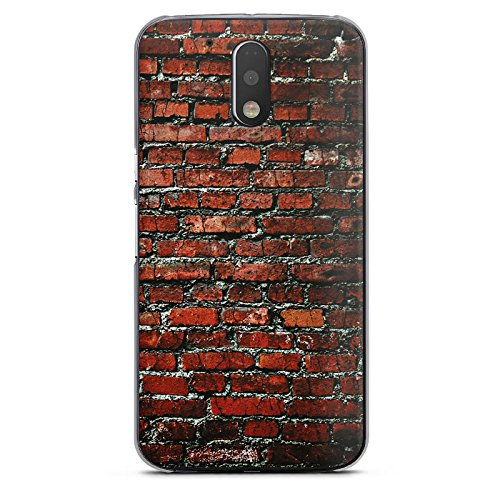 DeinDesign Motorola Moto G4 Hülle Case Handyhülle Backstein Steinwand Steine Rot (Motorola-backstein-handy)