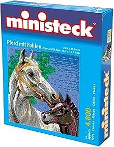 Ministeck Paard Met Veulen, 4.800 delig, (53,3 x 66,6 cm) Inc. Grondplaat