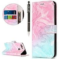 Huawei Enjoy 7S Hülle,Huawei Enjoy 7S Ledertasche Handyhülle Brieftasche im BookStyle,SainCat Retro 3D Muster... preisvergleich bei billige-tabletten.eu