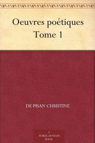 Couverture du livre Oeuvres poétiques Tome 1