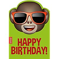 Emoticon / Emote / Emoji Monkey Shades / Sun Glasses Birthday Card