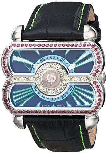 Brillier 24–02analógico de la mujer pantalla Swiss reloj de cuarzo negro