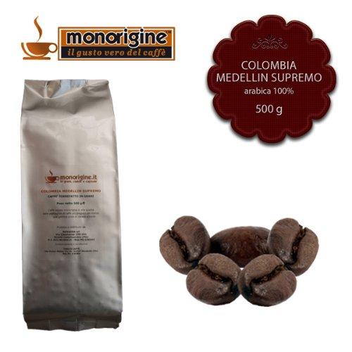 Caffè in Grani Colombia Medellin Supremo 500 gr - Caffè Monorigine Arabica 100%