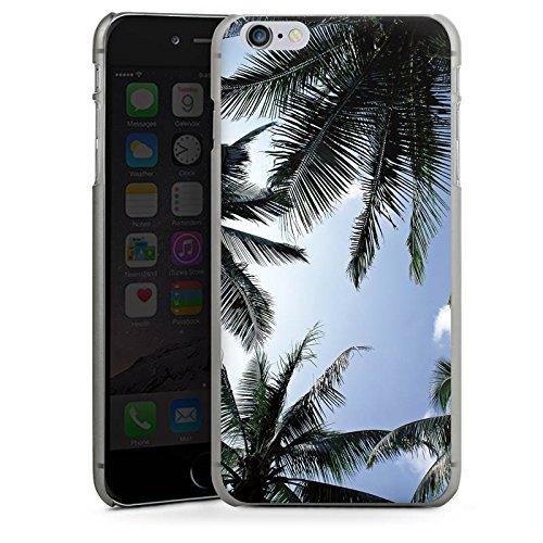 Apple iPhone X Silikon Hülle Case Schutzhülle Palmen Himmel Natur Hard Case anthrazit-klar