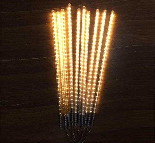 HomJo Solar LED Garden Spotlight LED Meteor Dusche wasserdichte Meteorlampe String Farbe Monochrom Outdoor Gartenbeleuchtung für Weihnachten Neujahr Party Dekoration 50cm , ()
