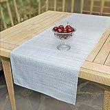 Delindo Lifestyle Tischläufer Samba, grau, 40x140 cm, Fleckschutz, abwaschbar, für Indoor und Outdoor - 4