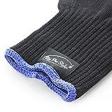 Beautystar 2 Stück Hitzeschutzhandschuh Schutzhandschuhe für Curling, Eisstockschießen Wand und Flat Iron, Schwarz und Rosa -