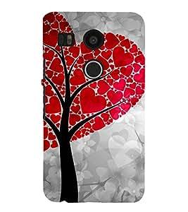 ANIMATED HEART SHAPED TREE LEAVES 3D Hard Polycarbonate Designer Back Case Cover for LG Google Nexus 5X :: LG Google Nexus 5X (2nd Gen) :: Google Nexus 5X :: Nexus 5X (2015)