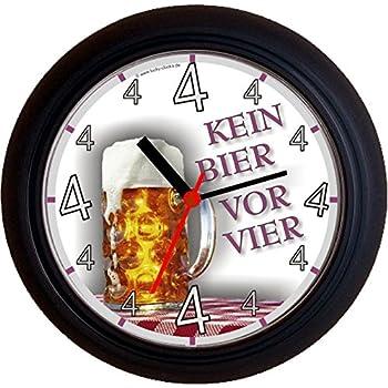 Lucky clocks bieruhr kein bier vor vier 4 mass geburtstag lustige und originelle wanduhr - Originelle wanduhr ...