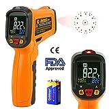 Infrarot Thermometer AIDBUCKS PM6530B IR Laser Digital Thermometer kontaktfreies mit Farbe lcd 12-Punkte-Laserkreis Farbbildschirm Alarmfunktion bei Über/Unterschreitung der Temperatur -50℃ bis 550℃