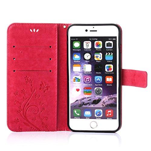 iPhone 6 Coque, LANDEE Ultra-mince PU Cuir Etui Portefeuille pour iPhone 6S / iPhone 6 Housse Case (6S-P-0403) 6S-P-0410