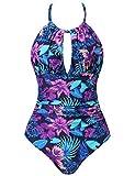 Amorbella -  Costume Intero - Donna Purple Floral 52