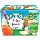 Heinz Fruité Yogourt Pêche 4-36 Mths 4 X 100G - Paquet de 4