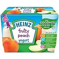 Heinz Afrutado Yogur De Melocotón 4-36 Mess 4 X 100 G - Paquete de 6