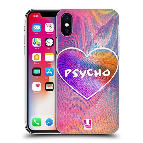 Head Case Designs Dont Really Care Sovrapposizioni Olografiche Cover Retro Rigida per Apple iPhone X Psycho