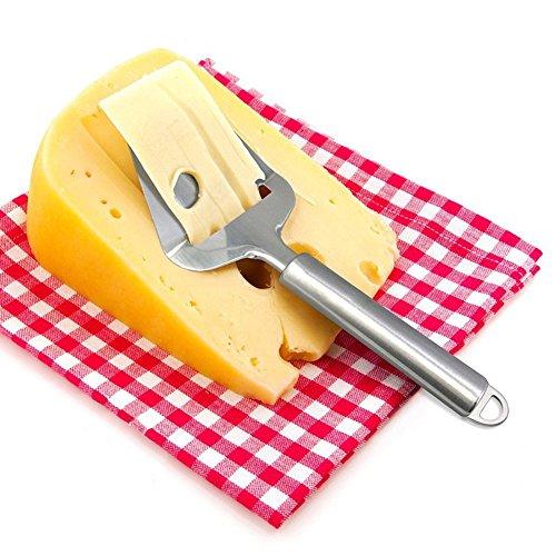 Joyoldelf Käsehobel Schinken Schneidemaschine mit ergonomischen Griff Design, Lebensmittelqualität 430 Edelstahl - sicherer und gesünder